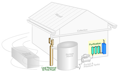 Rainwater Harvesting Components: A Water Filtering System