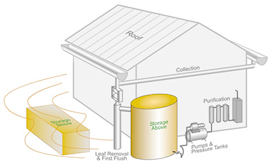 Rainwater Harvesting Components: Above or Below Ground Tanks